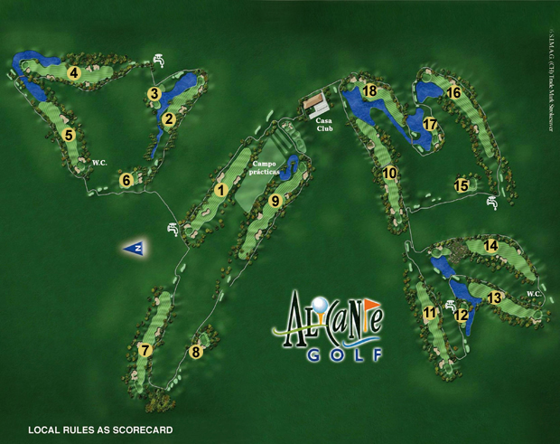 alicante golf course map